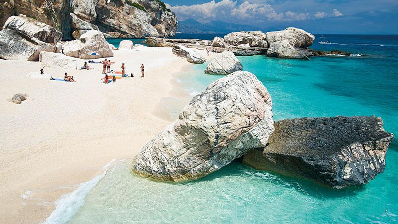 Blue line - Motor ship Tour Excursions Sardinia